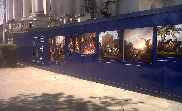 Site hoarding Tate Gallery