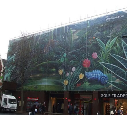 retail unit building wrap