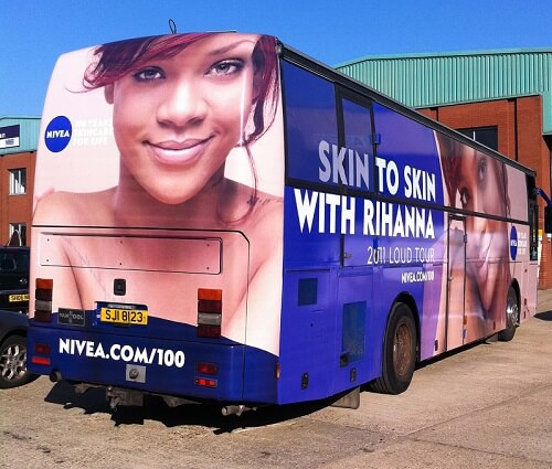 Rihanna promotional bus